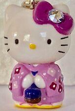 ❤️Sanrio Hello Kitty Purple Kimono 02 Gotochi Netsuke Charm Mascot Phone Strap❤️
