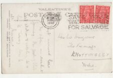 Bedford 1948 Postmark Save Your Waste Paper For Salvage Slogan 736b