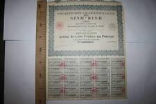 SOCIEDAD DE CARBONES DE NINH-BINH (TONKIN) VIETNAN  1926, RARA VER FOTO