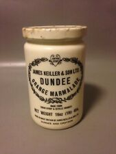 JAMES KEILLER & SONS DUNDEE MARMALADE PRESERVE POT tall/ super rare milk glass