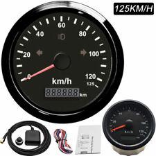 Waterproof 85mm Car Vehicles GPS Speedometer Odometer 0~125km/h 12/24V Universal