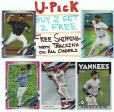 2021 Topps Chrome MLB Base, RC, Refractors, Parallels Buy 2 Get 2 FREE Ship FREE