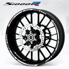 s1000R motorcycle wheel decals 12 rim stickers set bmw s1000 R stripe Motorsport