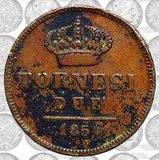 Italia - Regno Due Sicilie - Ferdinando II (1830-59) - 2 tornesi 1854 RARA