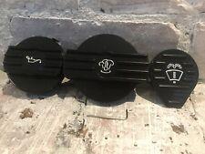 Aluminium Black Oil Coolant Water Cap VW Mk5 Golf 2.0tfsi Jetta Gti 1.9 Tdi 2.0