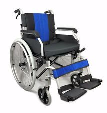 New Aluminium Folding Wheelchair Self Propelled Lightweight Transit Hand Brake