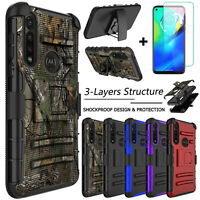 For Motorola Moto G Power Case Hybrid Clip Holster Stand Cover /Screen Protector