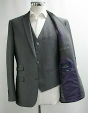 Men's Sawyers & Hendricks 3pc Tailored Fit Charcoal Grey Suit (40R)..Sample 6399
