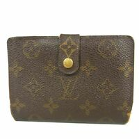 Auth LOUIS VUITTON M61674 Monogram Portefeuille Viennois Wallet Purse F/S 15706b