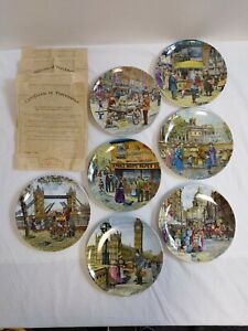 Cries of London x7 plates Davenport Pottery Co Ltd Edition 1991 boxed with COAs