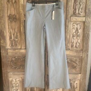 Express Editor Women's Size 10 Pants Light Gray Pinstripe Pockets Editor Pants