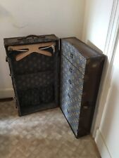 Vintage Antique Suitcase Steamer Travel Trunk Luggage Chest with Internal Drawer
