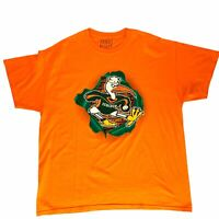 University of Miami Hurricanes Mens XL Orange T-Shirt Sebastian the Ibis Logo