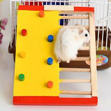 Natural Wood Colorful Funny Climbing Ladder Molar Toy for Pet Rat Hamster Rabbit