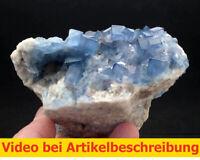 7494 Fluorit blau ca 9*7*14 cm Bingham Portales Neu Mexiko Specimen  MOVIE
