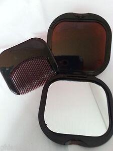 miroir de poche, miroir 6 cm x 5.5 cm, miroir de poche avec peigne, Dolly