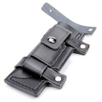 20CM Leather Sheath with Pouch bag For about 7inch Fixed Straight Knife Hunting