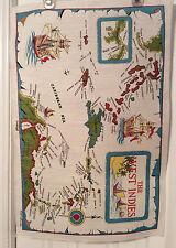 Vintage Linen Towel The West Indies