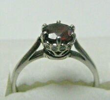 PLATINUM  Round Natural Ruby Diamond Ring  $1950