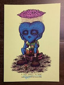 Marq Spusta A Sprout Amongst The Doubt Yellow-Green Volt 5x7 Mini Print Birds
