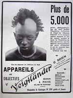 PUBLICITÉ DE PRESSE 1909 APPAREILS ET OBJECTIFS VOIGTLANDER & SOHN