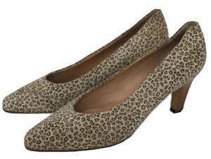 Vintage Rayne Of London Leopard Print Ladies Shoes Size 6.5