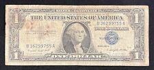 1957 A $1 Washington Blue Seal 1 One Dollar Bill Silver Certificate Note 39