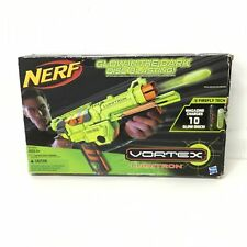 Hasbro Nerf Vortex Lumitron Disc Blaster Glow in the Dark Green #404