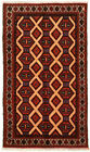 """Vintage Hand-Knotted Carpet 3'3"""" x 5'9"""" Traditional Oriental Wool Area Rug"""