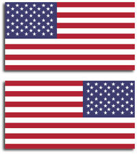 "2 pack 3"" x 5.7"" USA American Flag Bumper Sticker Decal vinyl Marines Army Navy"