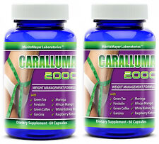 CARALLUMA 2000 FORMULA (10:1) Appetite Suppressant MAXIMUM Weight Loss 2 Bottles