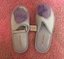 Victoria's Secret Fluffy Purple Slippers M UK SELLER