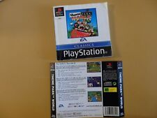 Theme Park World Sony PlayStation 1 PS1 (Booklet + Back Cover)