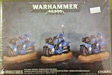 Warhammer 40K Adeptus Astartes Bikes, Space Marine BIKE SQUAD, New