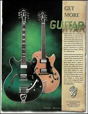 The Guild Starfire V (5) & II (2) electric guitar 1999 ad 8 x 11 advertisement