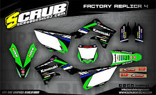 SCRUB Kawasaki graphics decals kit KX 450f 2013-2015 stickers KXf 450 '13-'15