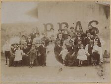 Photo de mariage France Tirage citrate vers 1910