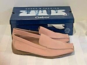 BNIB Gabor Comfort Rose Pink Leather Suede UK 6.5/EU40 Loafer Slip-on Lovely