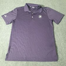 Adidas mens polo shirt Adult Small Purple Country Club Golf Bright Purple Size S