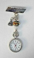 BUDDAH silver nurse fob watch healer brooch buddha colourful