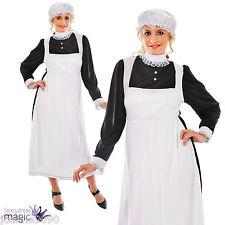 Adulto Mujer Sirvienta Victoriana Disfraz Talla 10 12 14 16