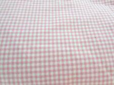 Martha Stewart Everyday Queen Pink Gingham Cotton Blend Flat Sheet 31547