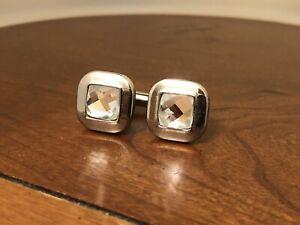 Vintage Crystal Rhinestone Cufflinks