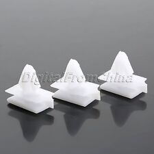 For Buick Pontiac Hummer White Plastic 11mm Hole Retainer Fastener Clips 50Pcs