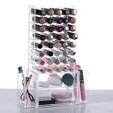 Clear Cosmetic Makeup Organizer Lipstick Brushes Holder Storage Display Unit Box