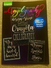 Crayola Hand Lettering Design Instructional Book. Learn crayoligraphy!