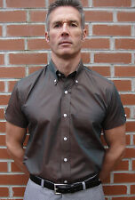 Patternless Short Sleeve Casual Shirts & Tops for Men's 60s