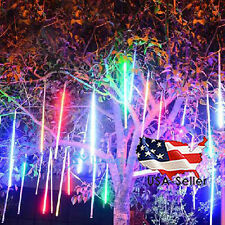 30cm 144LED Meteor Shower Rain Lights Waterproof Tubes String Snowfall Xmas USA