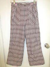 Cherokee Girl's Size Large Pink & Brown Plaid Snow/Ski Pants – Nwots