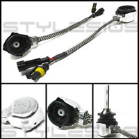 Metal D2S D2R D2C HID Xenon Bulb Adapters Wire Harness Connector Cable Socket